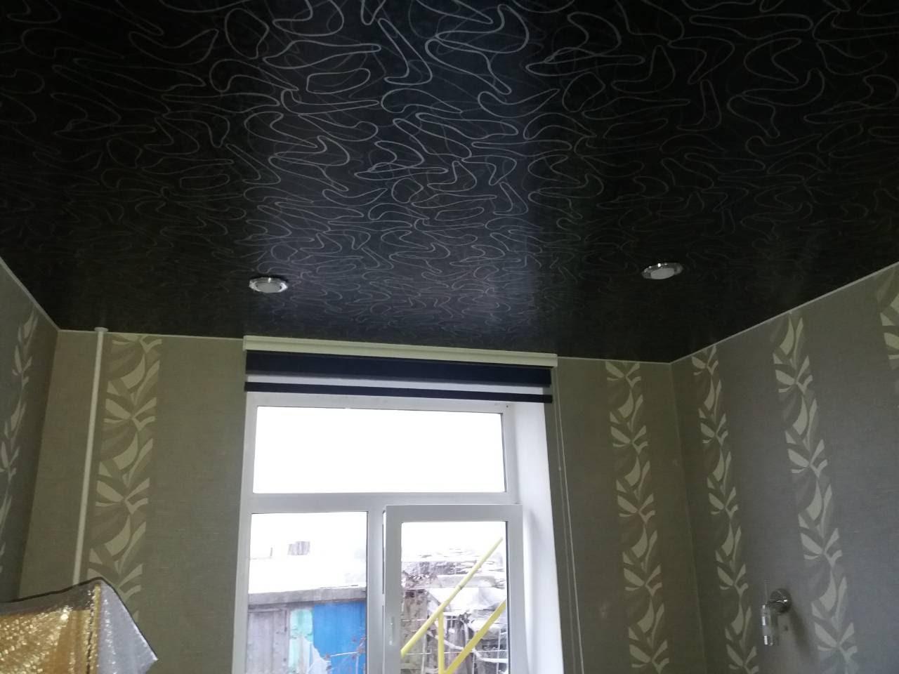 Эксклюзивная фактура для натяжного потолка в спальню